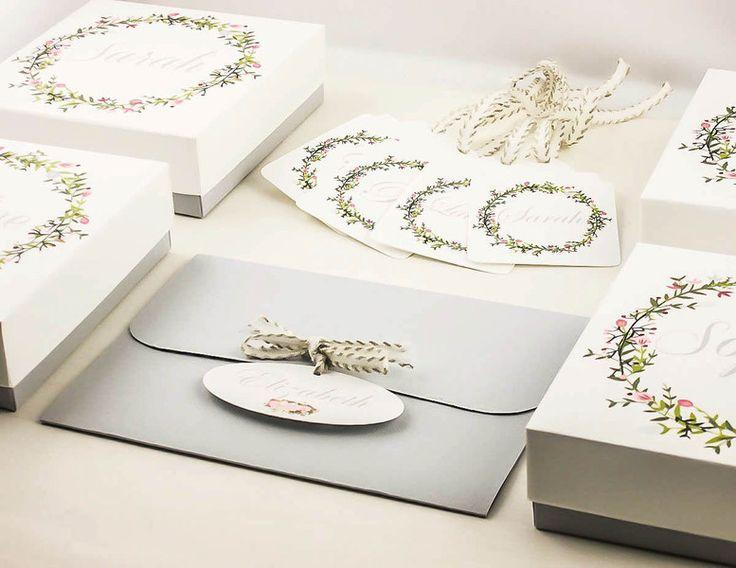 Gastgeschenke - Trauzeugin geschenk brautjungfer Set weiß und grau - ein Designerstück von DressYourGift bei DaWanda
