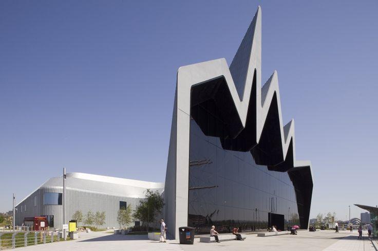Музей транспорта Риверсайд, Глазго, Шотландия (архитектурное бюро Захи Хадид)