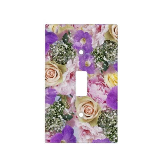 flowers potpourri switch plate covers