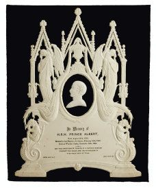Funeral invitation, 19th century. These were created to be framed.  Chirurgeon's Apprentice