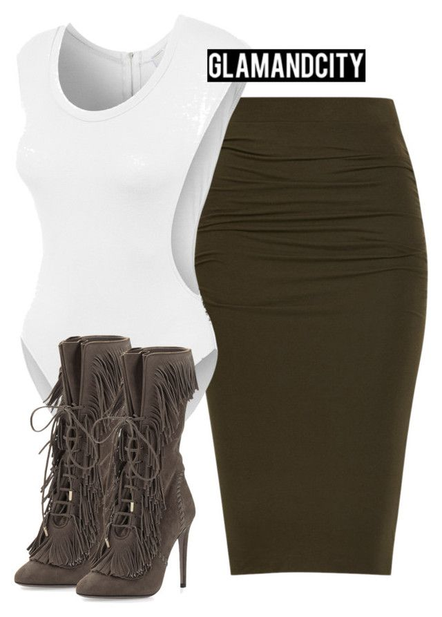 """""""Untitled #239"""" by glamandcity ❤ liked on Polyvore featuring LE3NO and Aquazzura"""