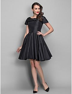 TS+Couture®+Cocktail+Party+Dress+-+1950s+Plus+Size+/+Petite+A-line+/+Princess+Bateau+Knee-length+Taffeta+with+Draping+/+Pearl+Detailing+–+AUD+$+250.25
