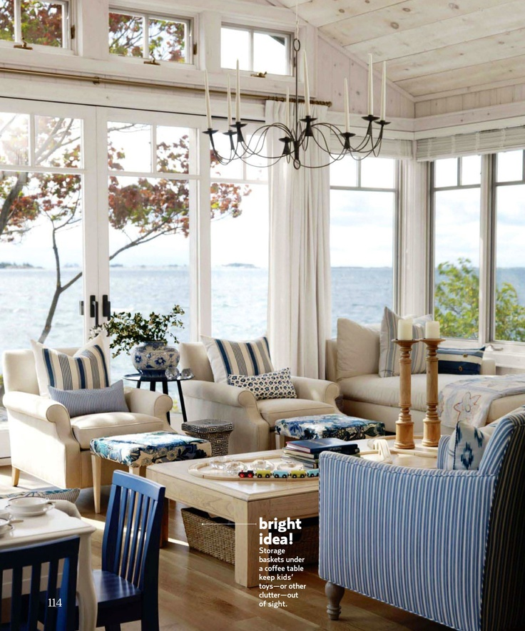 Sarah Richardson's Summer Cottage featured in Country Living July/August 2011 - Living room/Solarium