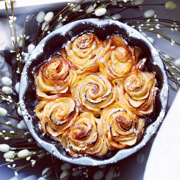 APPLE ROSE CAKE! This apple rose cake made my day. Going to post the recipe tomorrow.