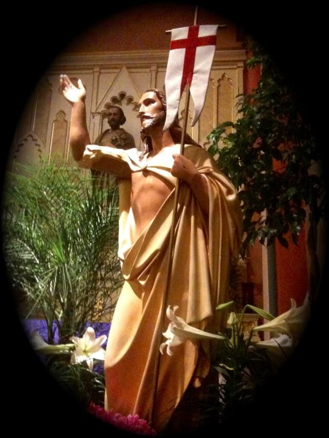 The 50 Days of Easter: A statue of the risen Christ at Saint Mary Oratory, Rockford, Illinois.