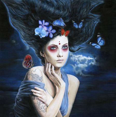 Melissa  Hartley Azala - 2013 Acrylic on gesso board 50 x 50 cm