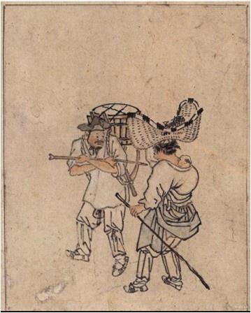 풍속화첩-행상 - 김홍도(18세기 후반경)