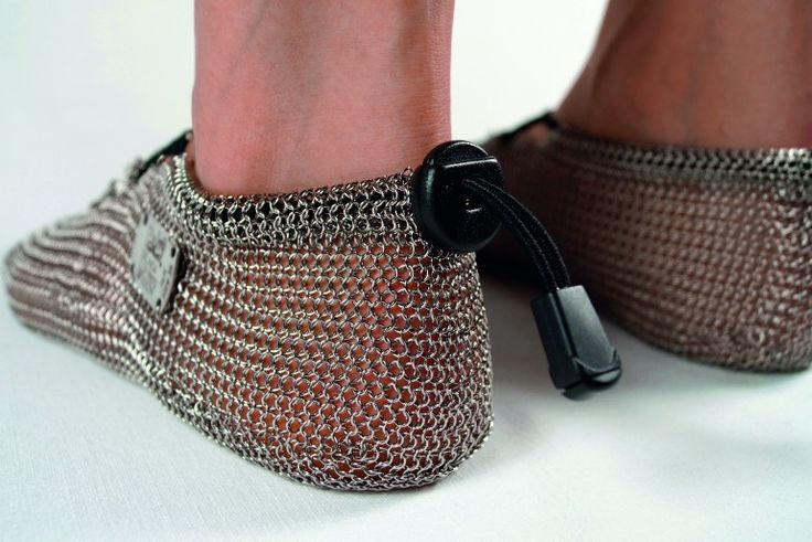 Get Medieval With Chainmail Barefoot Shoes - This blew my mind... now I can be like Cody lundin :)
