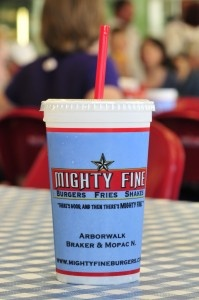 Mighty Fine (burgers, fries, shakes)...Austin, TX...