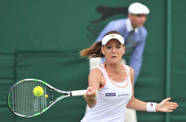 6/24/14 #4-Seed Agnieszka Radwanska def. Andreea Mitu 6-2, 6-1 in the 1st rd of The Championships, Wimbledon. Aga's sister Urszula was def. by #9-Seed Angelique Kerber 6-2, 6-4.