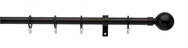 Universal 16/19mm Ball Pole Set 120-200cm Black