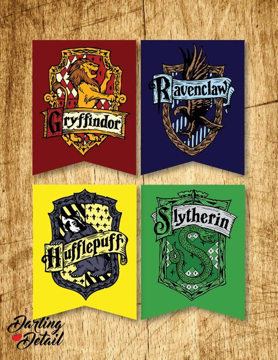 photograph regarding Printable Hogwarts House Crests called Wizard Printable Dwelling Crest Banners Electronic Obtain $10