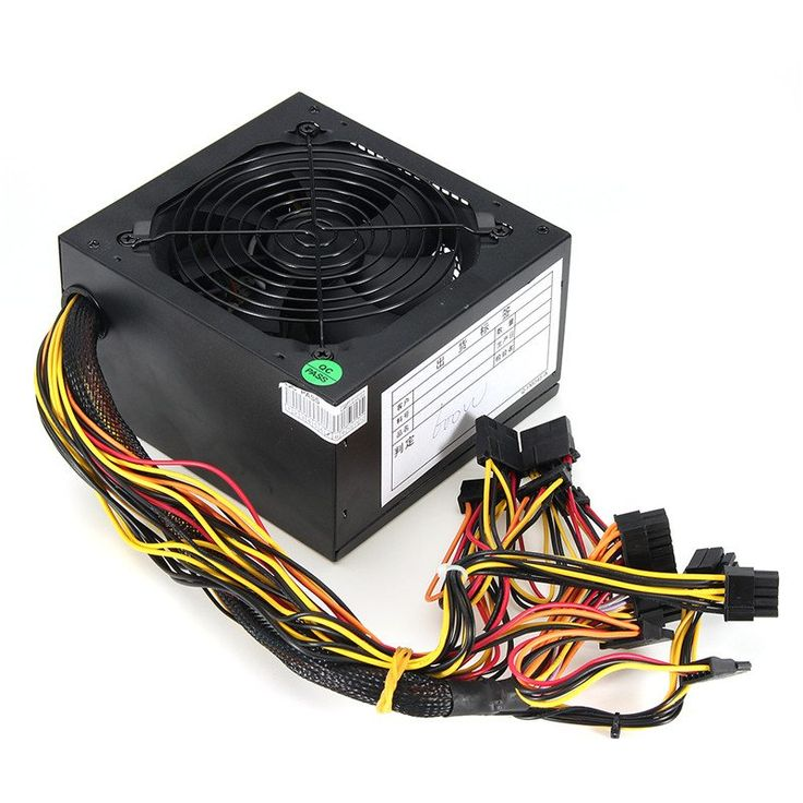 High Quality 1000W Computer PC Power Supply for CPU Active PFC Efficient 2-PCIE LED Fan ATX 12V PC Power Supply for Intel AMD //Price: $84.95//     #Gadget