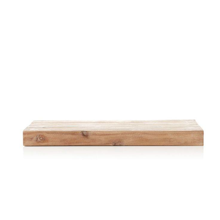 Wandregal, Natur, 60 x 30 x 5 cm, Recyceltes HolzLiving Wandregal, Natur, 60 x 30 x 5 cm, Recyceltes Holz