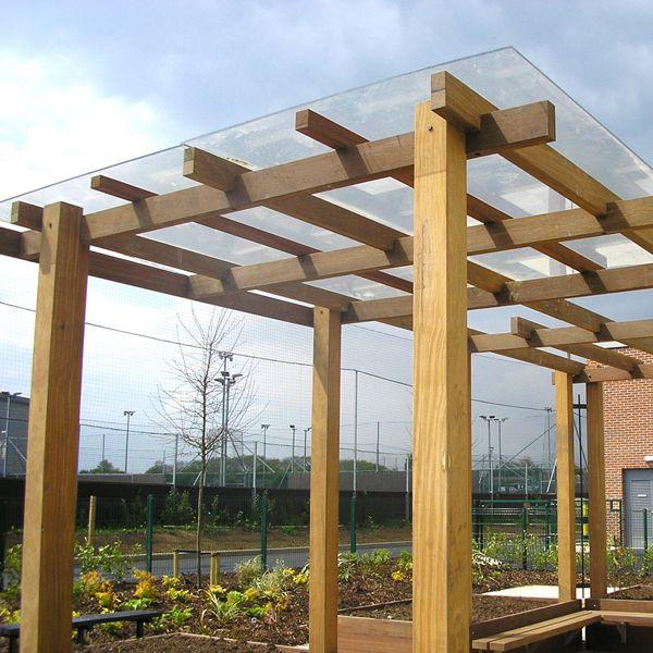 Pergola Glass Designs: Planters & Pergolas: Abbeywood School, Filton, Bristol