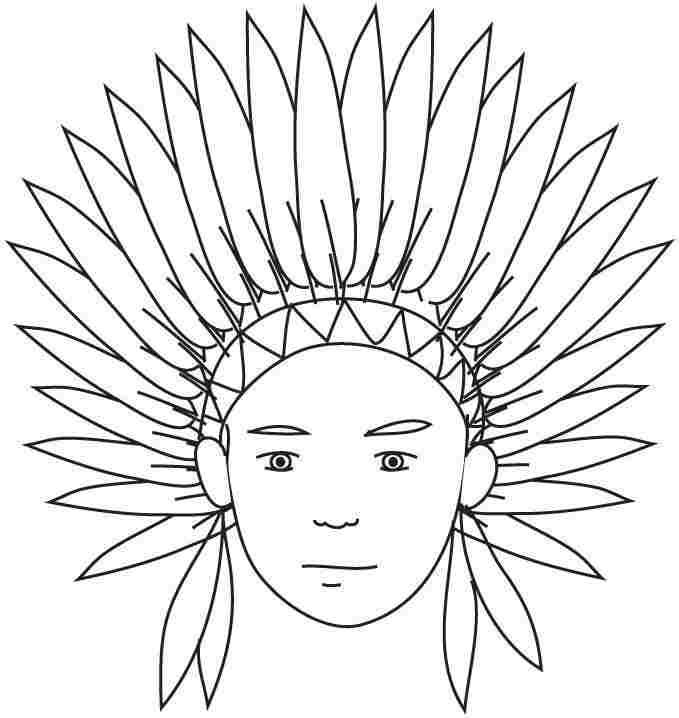 thanksgiving coloring pages of indians - photo#33