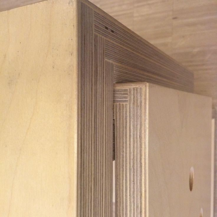 Birch plywood corner joint  Wood craft! Changing chair  Elise Zoetmulder