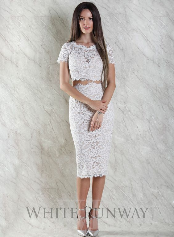 White runway multi dress