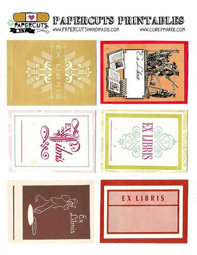 12 best bookplates images on pinterest free printable for Free printable bookplates templates