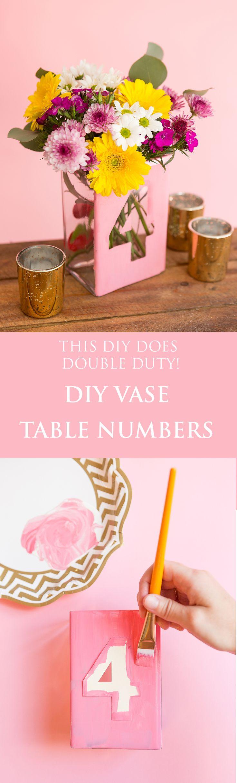 DIY vase table number I Gillian Ellis Photography