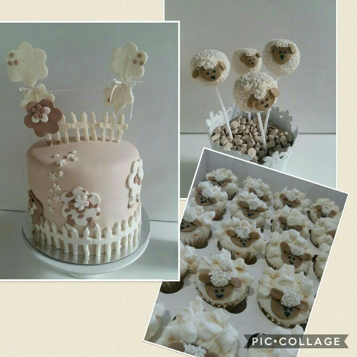 Baby shower cake, cakepops & minicupcakes