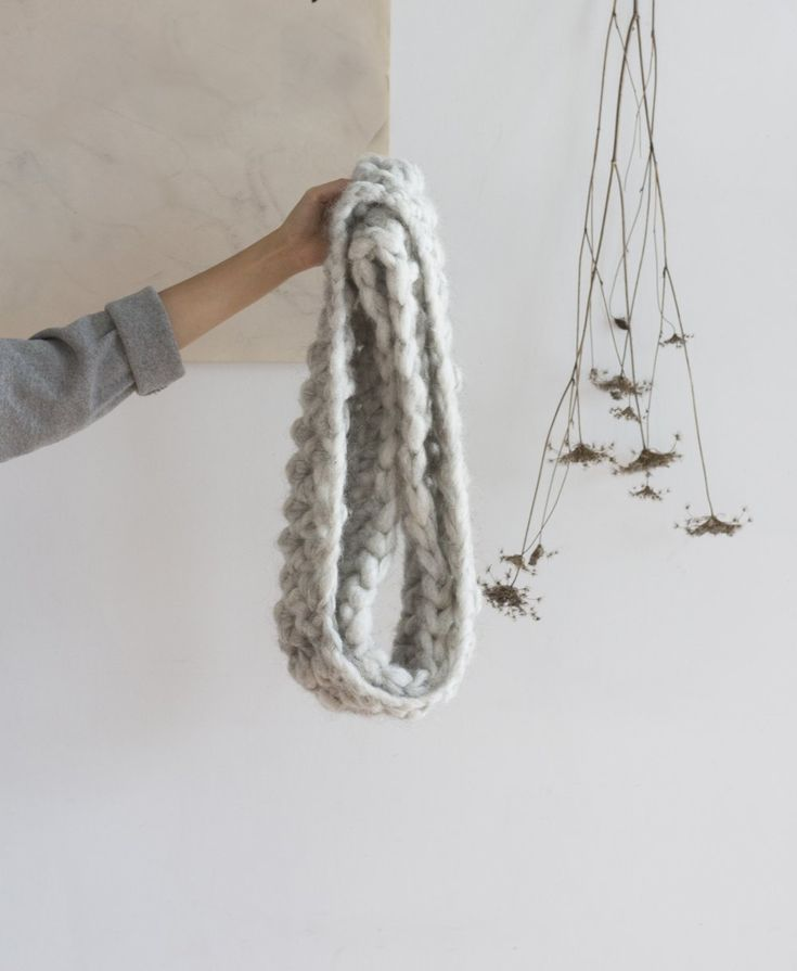 """Hand-crocheted infinity shawl in our very soft chunky Alpaca/Wool blend yarn. Dimensions 18"""" wide x 48"""" around (46 cm x 122 cm). Available in 4 colourways - Black, Blush,Charcoal and Slate. Product of Canada."""