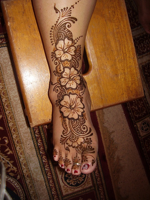 Henna Foot by Henna Trails