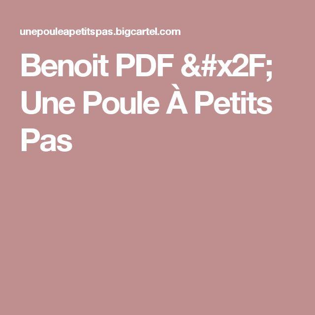 Benoit PDF / Une Poule À Petits Pas