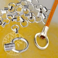 Crimp Endkappe 925 Silber 1,5 mm Quetschverschluß Endstück