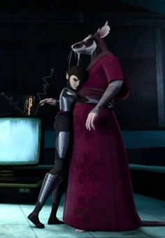Karai/Miwa back with her father; Hamato Yoshi/Master Splinter. :-)  I hope Karai/Miwa will stay with the turtles & her father; Hamato Yoshi/Master Splinter, after all, she's family. She's been through a lot.