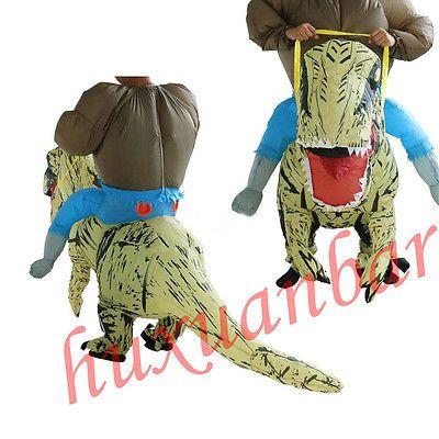 Hot-T-Rex Inflatable Dinosaur Costume Adult Outfit Halloween Suit Fancy Dress