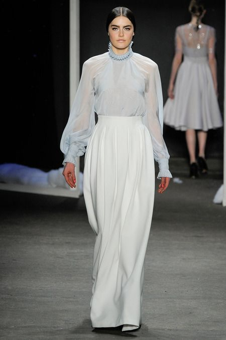 Honor | Fall 2014 Ready-to-Wear Collection | Style.com | #nyfw  The blouse is and moves lovely