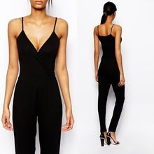 Wrap plunge jersey bodycon sexy jumpsuit for women 2014 Best Seller follow this link http://shopingayo.space
