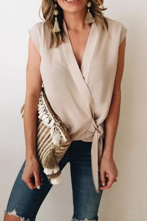 Fashion Editor Cross Tie Shirt