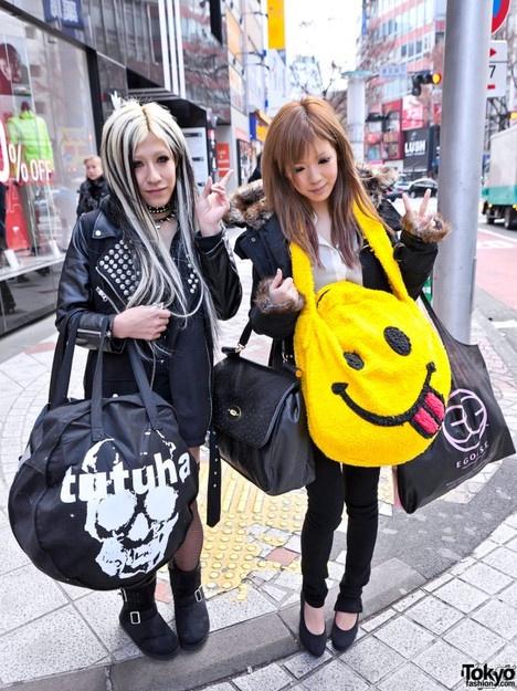 Harajuku Gal W Rainbow Eye Makeup Silver Hair In Anap: 17 Best Images About Gyaru: Rokku On Pinterest