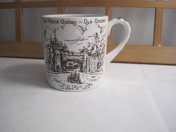 Vintage Tasse Vieux Québec Porte Saint-Louis/ Vintage Compress