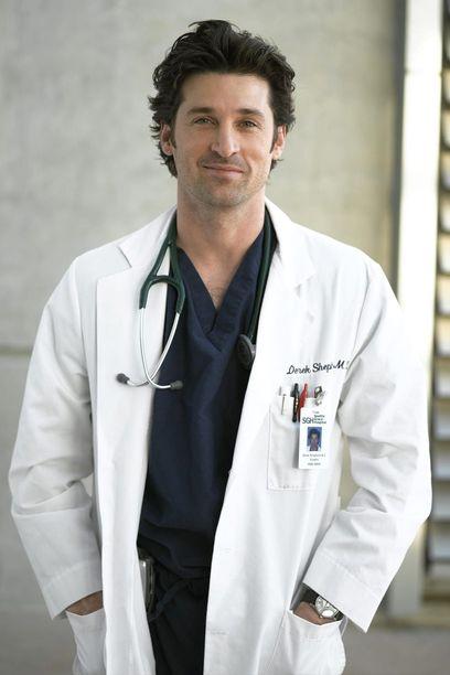 Anatomía de Grey. Derek Sheperd, encarnado por Patrick Dempsey