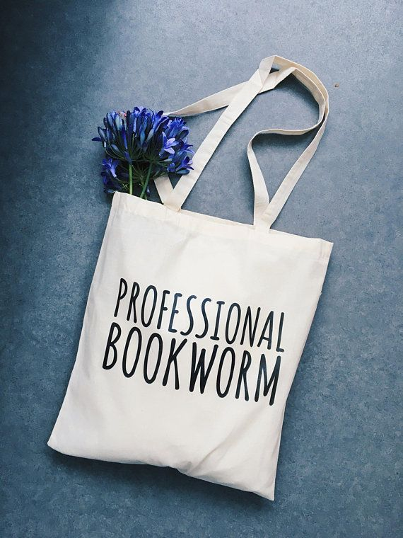 0da5d1e85c4 Bookworm tote bag, canvas bag, canvas tas, baumwoll, professional ...