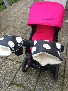 Kinderwagenmuff, Muff für Buggy / Kinderwagen (sicher auch für Laufräder geeignet?)