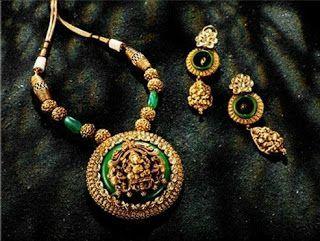 New golden gundla haram necklace designs - Latest Jewellery Design for Women   Men online - Jewellery Design Hub