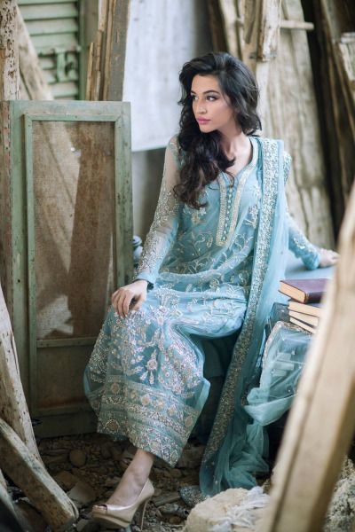 Designer: Ansab Jahangir Photography: Muzi Sufi Hair and Makeup: Natasha Salon Model: Sana Ansari