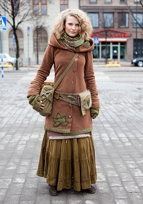 gypsyish: Street Fashion, Inspiration, Clothes, Clothing, Street Style, Morigirl, Boho, Mori Girl, Coat