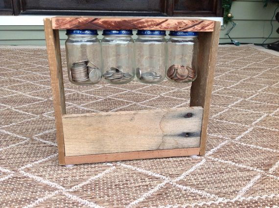 Hey, I found this really awesome Etsy listing at https://www.etsy.com/listing/216375579/rustic-mason-jar-piggy-bank