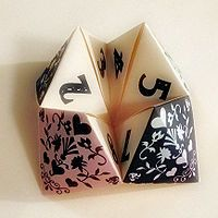 . . .we used a folded paper fortune teller, no need for the psychic hotline, lol.