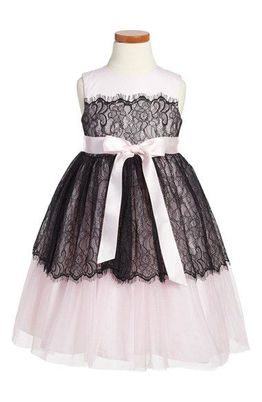 Pippa & Julie Floral Lace Overlay Tulle Dress (Toddler Girls & Little Girls) available at #Nordstrom