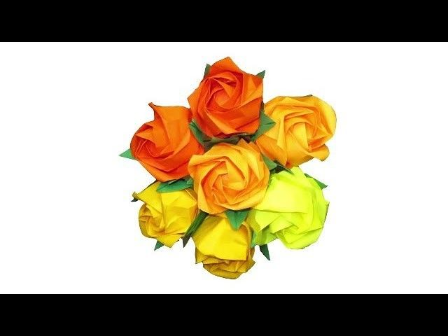 How To Make Origami Rose Paper Flowers Rose Flower Paper Craft