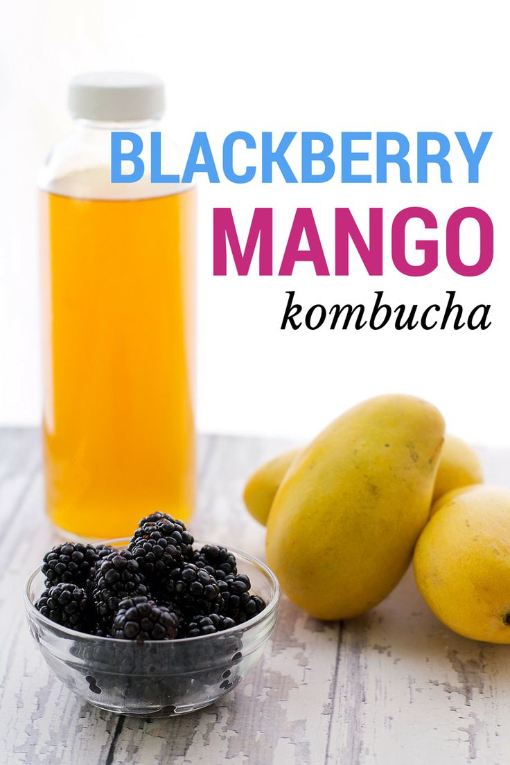 How to bottle Kombucha, with a Blackberry Mango Kombucha Recipe included! #probiotics #diy #health #fermented #tea