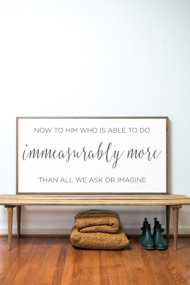 Immeasurably More by BetweenYouAndMeSigns on Etsy https://www.etsy.com/listing/119237365/immeasurably-more