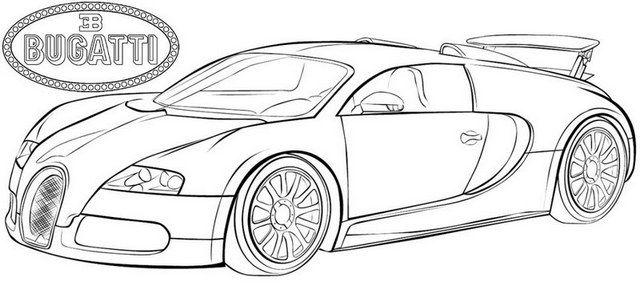 14 Exclusive Super Sport Car Bugatti Race Car Coloring Pages