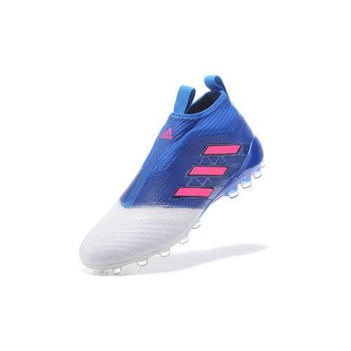 new product ea5b0 95a39 ... billige fodboldstøvler tilbud kobe adidas ace 17 purecontrol ag hvid  blå fodboldstøvler